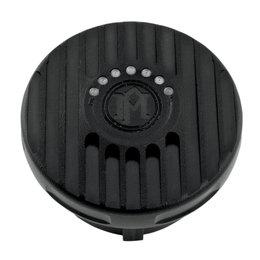 Performance Machine Grill Fuel Gauge Gas Cap Harley Black Ops 0210-2025GRL-SM Black