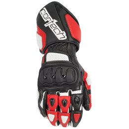 White, Red Cortech Mens Impulse Rr Leather Gloves 2014 White Red