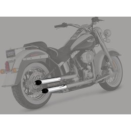 Python 2.5 Inch Slash-Cut Slip-On Mufflers Chrome For Harley FLS FLSTN FLSTSB