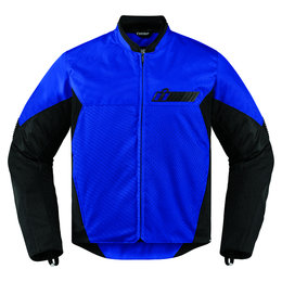 Icon Mens Konflict Armored Textile Street Riding Jacket Blue