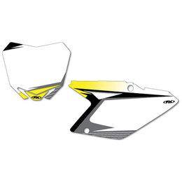 White Factory Effex Graphic #plate Background Suzuki Rm-z 10