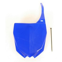 UFO Plastics Front Number Plate Blue For Yamaha YZ250F/450F