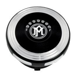 Performance Machine Merc Fuel Gauge Gas Cap Harley Contrast 0210-2025MRC-BM Black