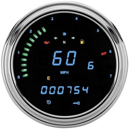 37642 blue led dakota digital tank mount speedo tach gauge blue for harley flst fxst flhr 96 03_260 dakota digital products for less @ riders discount Simple Motorcycle Wiring Diagram at creativeand.co