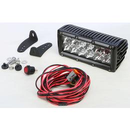 Rigid ATV E-Series 6 IN Hybrid Spot/Flood Light Bar Black With Amber LED 106322 Black