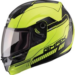 GMAX 04 -04 Graphic Modular Helmet Yellow