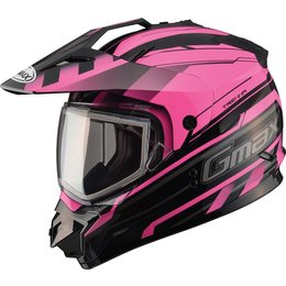 GMax Womens GM11S Trekka Sport Snow Helmet With Dual Pane Shield Pink