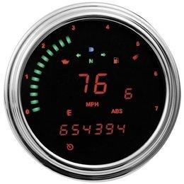 Red Led Dakota Digital Tank Mount Speedometer Tachometer Gauge Red For Harley 96-03