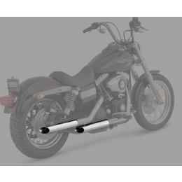 Python 2.5 Inch Slash-Cut Slip-On Mufflers Chrome For Harley-Davidson FXD
