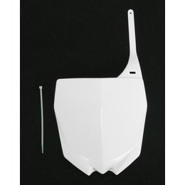 UFO Plastics Front Number Plate White For Yamaha YZ250/450F
