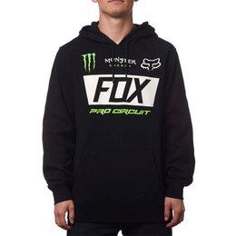 Fox Racing Mens Monster Energy Paddock Pullover Motocross Hoody Sweatshirt Black
