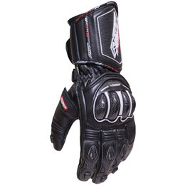 RST Mens TracTech EVO III Race CE Approved Leather Gloves Black