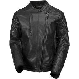 RSD Mens Clash Black Ops Leather Riding Jacket Black