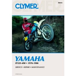 Clymer Repair Manual For Yamaha IT125-490 76-86