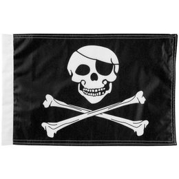 Pro Pad 6 X 9 Highway Safe Flag Poly Cotton Jolly Roger Black