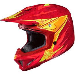 Red Hjc Cl-x7 Clx7 Pop N Lock Helmet