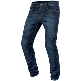 Alpinestars Mens Copper Armored Denim Riding Pants Blue