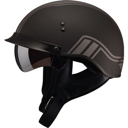 GMAX GM65 Twin Full Dressed Half Helmet Black