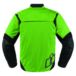 Icon Mens Konflict Armored Textile Street Riding Jacket Green