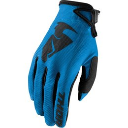 Thor Youth Boys Sector MX Gloves Blue