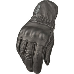 Highway 21 Mens Hook Leather Gloves Black