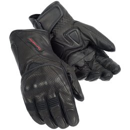 Black Tour Master Mens Dri-perf Gel Leather Gloves 2014