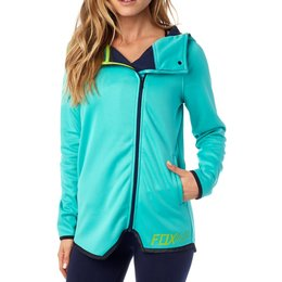 Fox Racing Womens Conclusion Zip Hoody Turquoise