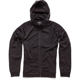 Alpinestars Mens Advantage Hooded Track Collar Zip Jacket Black