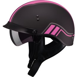 GMAX Womens GM65 Twin Full Dressed Half Helmet Black