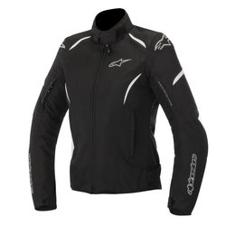 Black, White Alpinestars Womens Stella Gunner Waterproof Textile Jacket 2015 Blk White