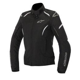 Black, White Alpinestars Womens Stella Gunner Waterproof Textile Jacket 2015 Blk White