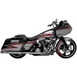 Chrome Supertrapp True Dual Head Pipes For Harley Flh 85-08