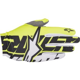 Alpinestars Mens Dune-1 MX Motocross Offroad Textile Riding Gloves White