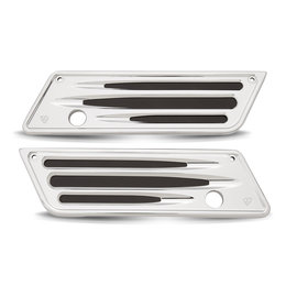 Chrome Arlen Ness Saddlebag Latch Covers Deep Cut Ch For Harley Fltr Flhr T X 1993-2012