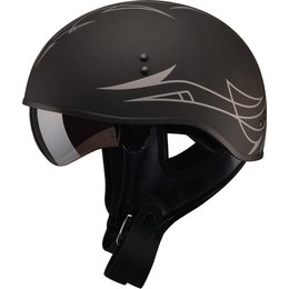 GMAX GM65 Pin Naked Half Helmet Black