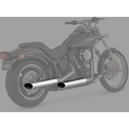 Python 3 Inch Mamba Slip-On Mufflers Chrome For Harley FLST/C FXCW/C FXST/B/C