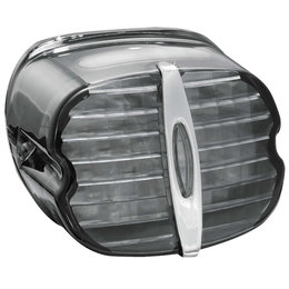 Kuryakyn Deluxe Panacea LED Tail Light With Plate Light For Harley Smoke 5422 Grey