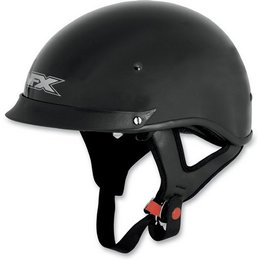 Black Afx Mens Fx-72 Fx72 Half Helmet With Built-in Shield