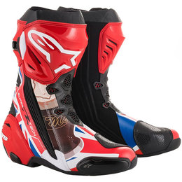 Alpinestars Mens Supertech R Limited Edition John McGuiness Boots Red