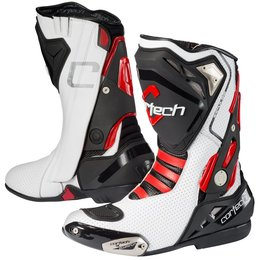 White, Red Cortech Mens Impulse Air Road Race Boots 2014 Us 8 White Red
