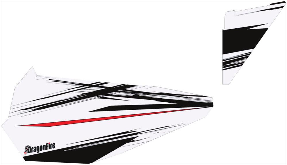 129 99 Dragonfire Racing White Lightening Door Panel 233526