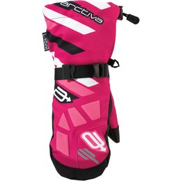 Arctiva Youth Girls Ravine Insulated Textile Snowmobile Mittens Pink
