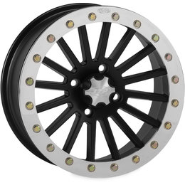 ITP SD Series Single Beadlock 14x7 4+3 Offset 4/156 BP ATV Wheel 1428651536B Black