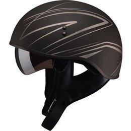 GMAX GM65 Torque Naked Half Helmet Black