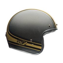 Bell Powersports Custom 500 Carbon RSD Bomb Open Face Helmet Black