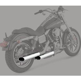 Python 3 Inch Mamba Slip-On Mufflers Chrome For Harley-Davidson FLSTF
