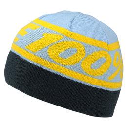 100% Mens Rally Acrylic Beanie Blue