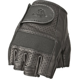 Highway 21 Mens Half Jab Fingerless Armored Perforated Leather Gloves