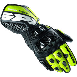 Black, Green Spidi Sport Mens Carbo Track Leather Gloves 2013 Black Green
