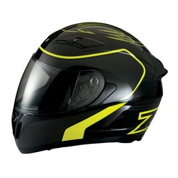 Z1R Strike Ops Full Face Motorcycle Helmet With Flip Up Shield Black